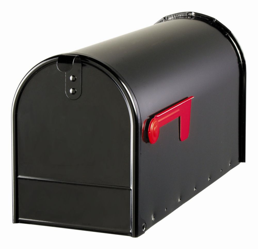 Gibraltar Industries Elite 7-inch x 9-inch x 20-inch Curbside Mailbox in Black