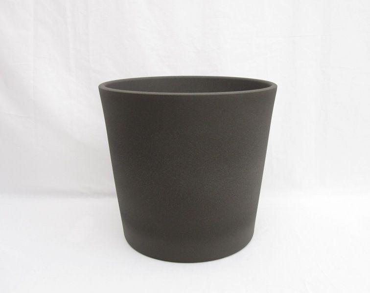 Ceramic Pot Round Granite 12 Inch