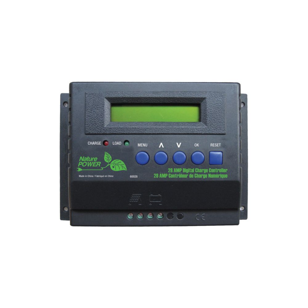 Contrôleur de charge numérique de 28 ampères (jusquà 450 watts) / 12 volts/24 volts