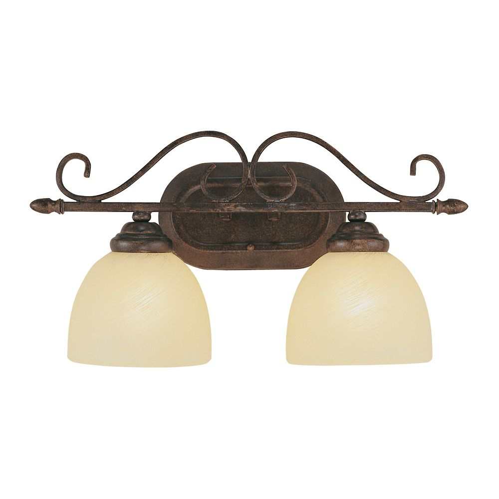 Swirled Champagne Glass 2 Light Sconce 7212 ROB in Canada