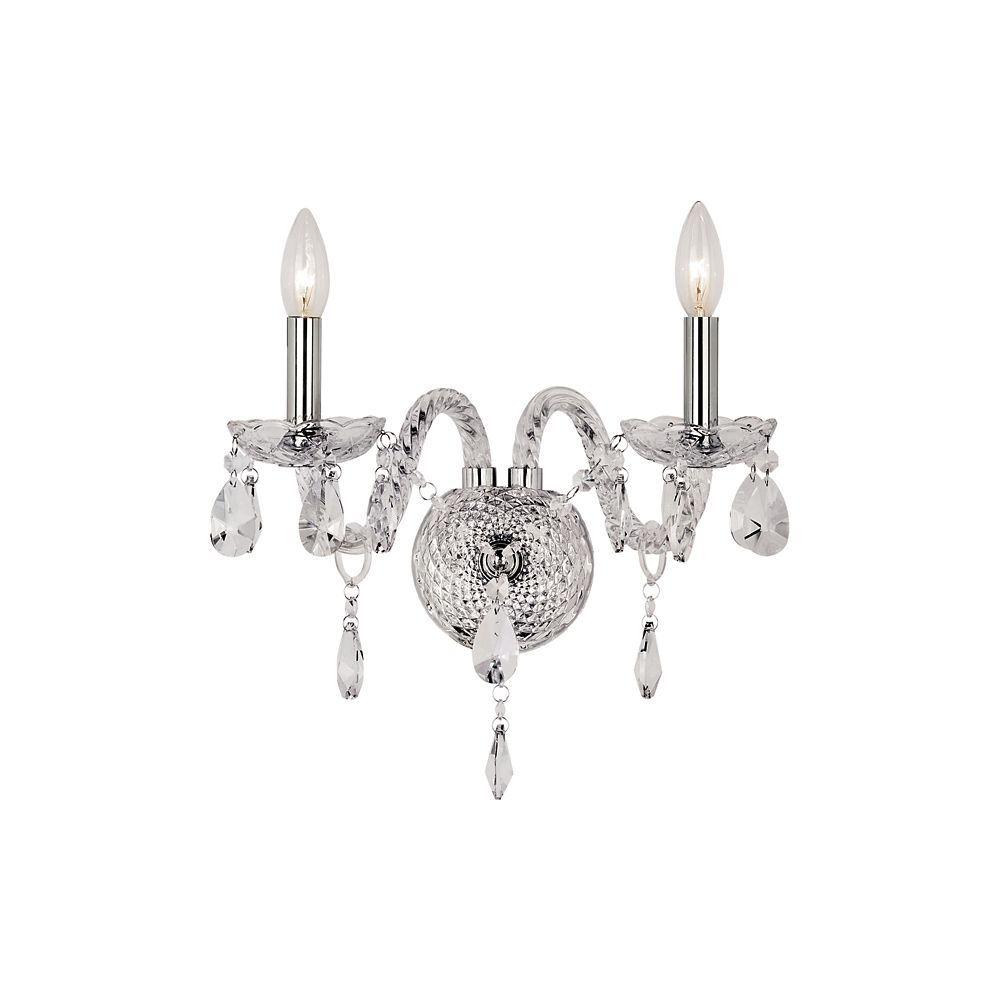 Braided Crystal Double Sconce HU-2 PC Canada Discount