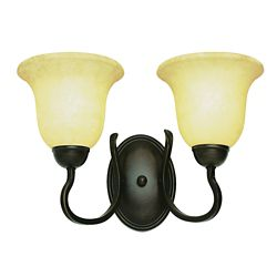Bel Air Lighting Bronze Hooked Double Sconce