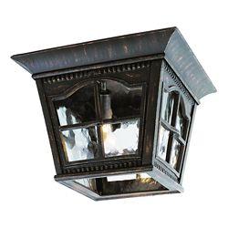 Bel Air Lighting Rust Scalloped Window Ceiling Light