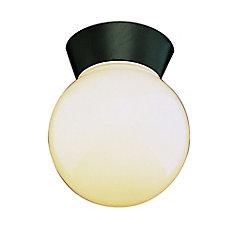 Plafonnier en forme de globe avec rebord, nickel
