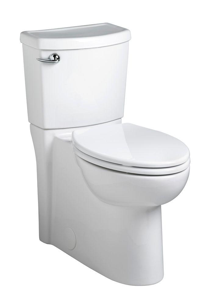 Toilette blanche à devant allongé Cadet3, siphon dissimulé, deuxpièces, 4,84l (1,28gal)