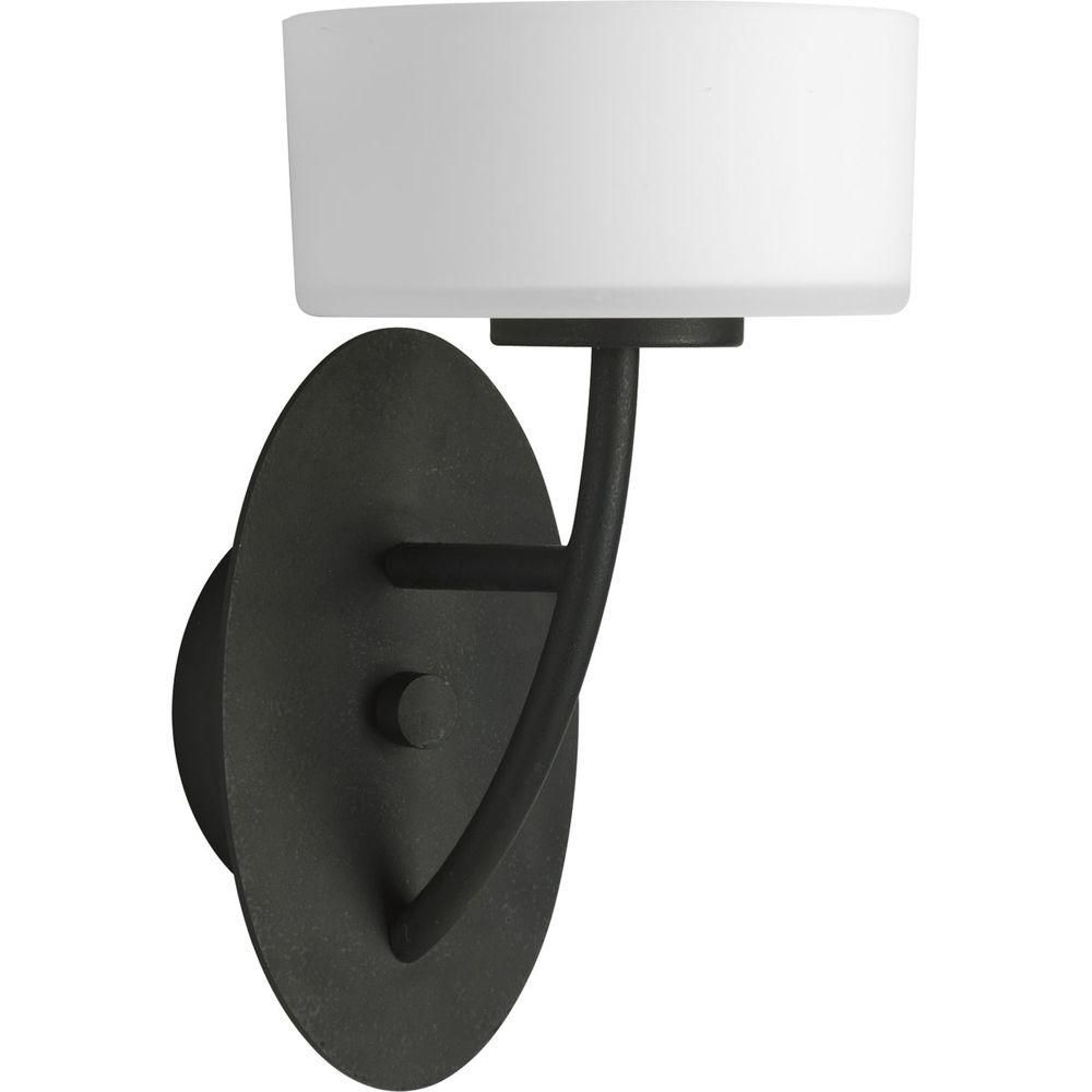 Calven Collection Forged Black 1-light Wall Bracket