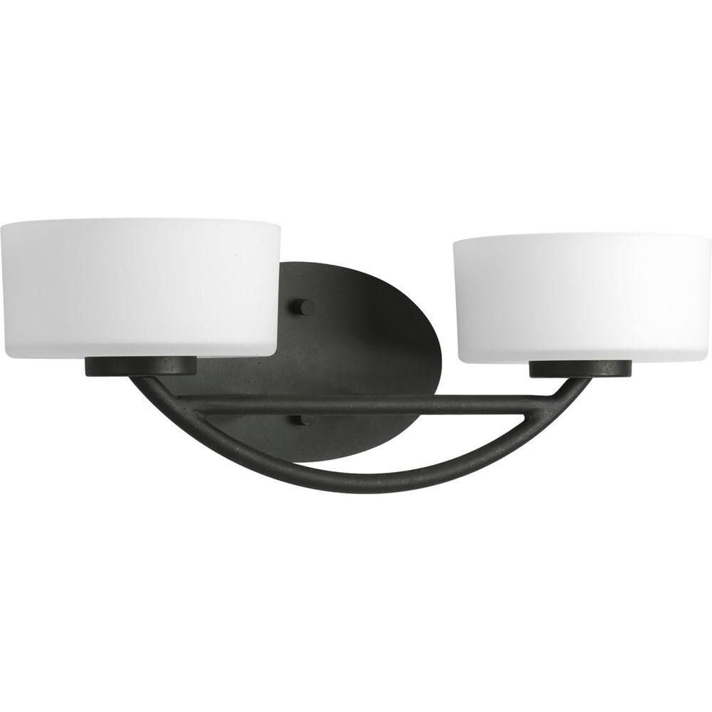 Calven Collection Forged Black 2-light Vanity Fixture 7.85247E 11 in Canada