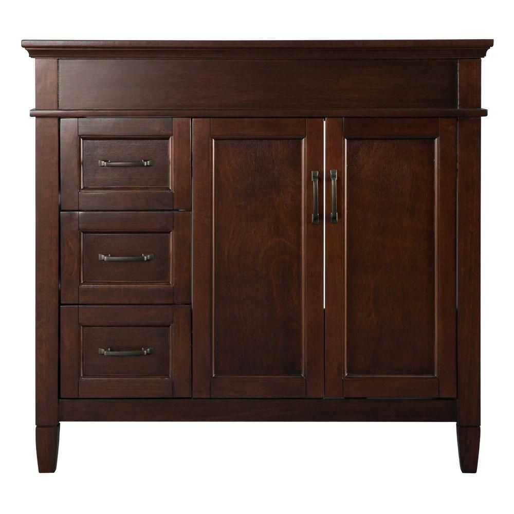 Home Decorators Collection Ashburn 36-inch W Bath Vanity Cabinet Only in Mahogany