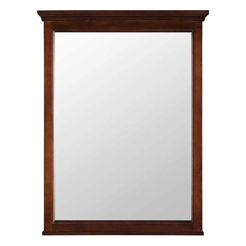 Ashburn 24-inch x 31-inch Wall Mirror in Mahogany
