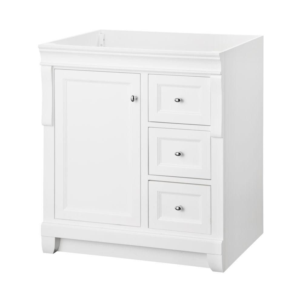 home decorators collection naples 30 inch w x d bath vanity cabinet in white the. Black Bedroom Furniture Sets. Home Design Ideas