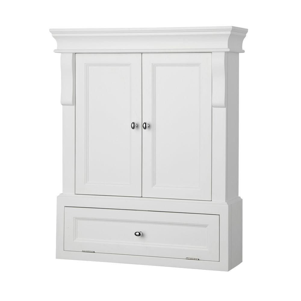 kraftmaid d in at shop cabinets lowes storage white com wall bathroom w x h pl