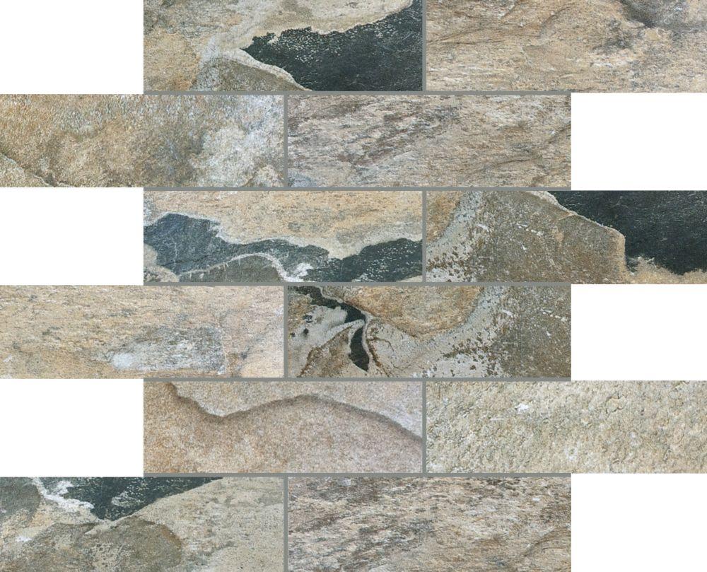 Mosaiques en Brique Bengal Sierra de 2 po x 6 po