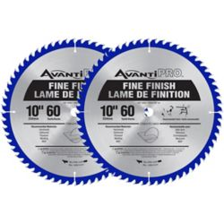 Avanti Pro 10-inch 60-Tooth Fine Finish Saw Blade (2-Pack)