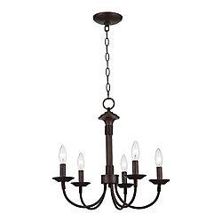 Bel Air Lighting Lustre à crochet, 5 branches, bronze
