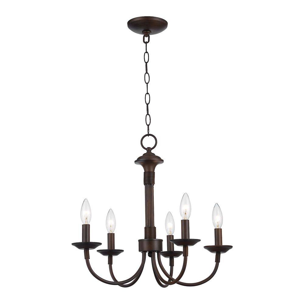 Bel Air Lighting Bronze Hook 5 Light Candelabra