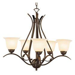 Bel Air Lighting Bronze Nested 5 Light Chandelier