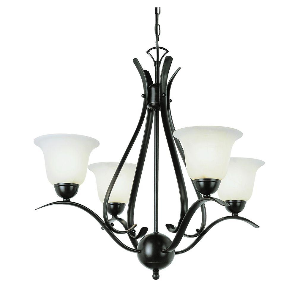 Bronze Nested Mini Chandelier