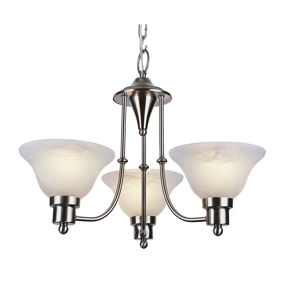 Bel Air Lighting Nickel Contemporary 3 Light Chandelette