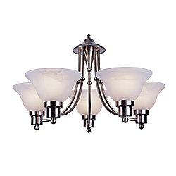 Bel Air Lighting Lustre contemporain à 5 branches, nickel