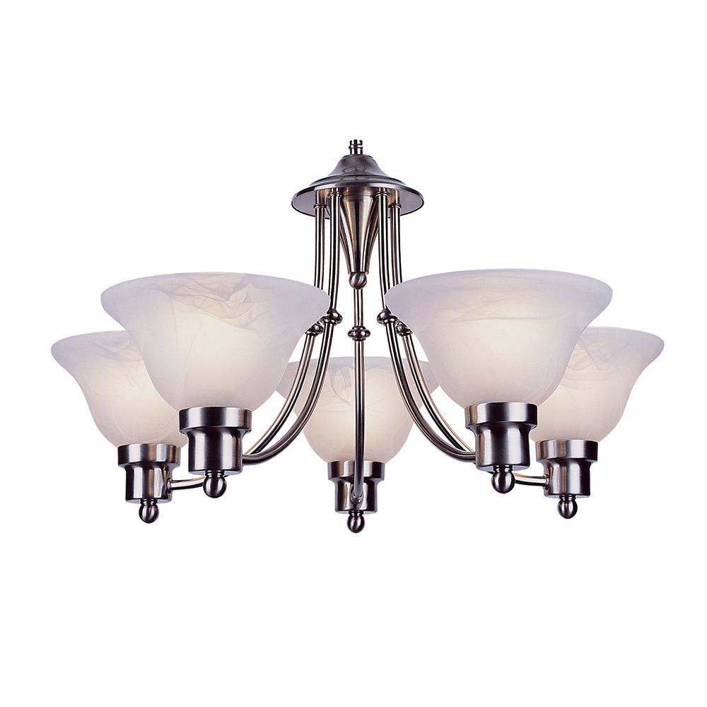 Bel Air Lighting Contemporary 5-Light Chandelier in Nickel