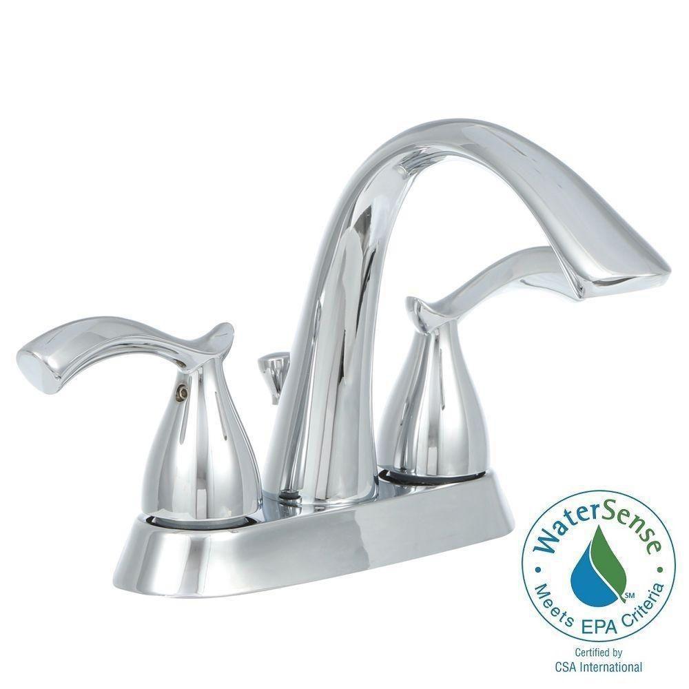Edgewood 4 Inch 2 Handle Bath Faucet In Chrome
