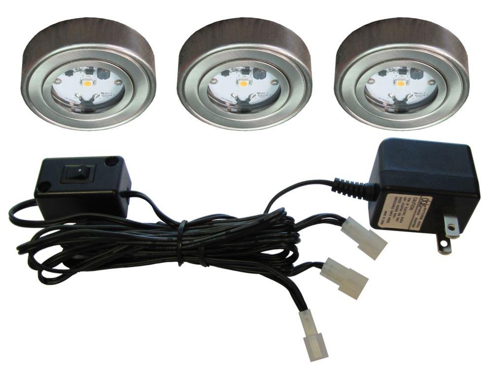 Illume 3 Enviro LED Metal Puck Kit, Satin Nickel