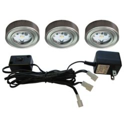 Illume 3 Enviro LED Metal Puck Kit, Satin Nickel