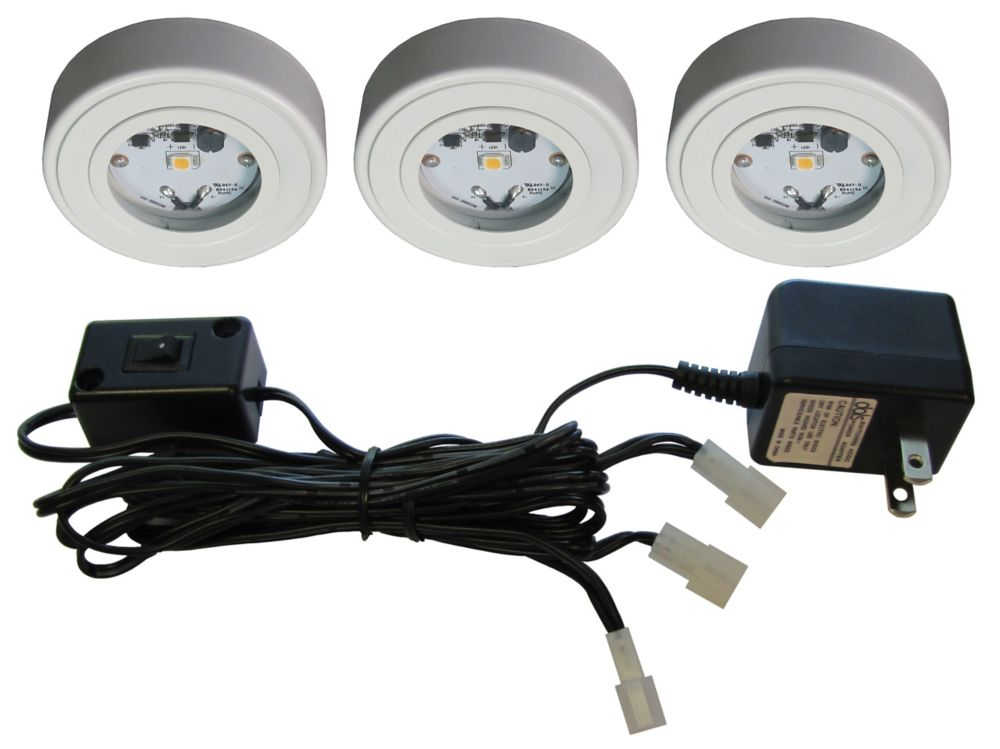 3 Enviro LED Metal Puck Kit, White