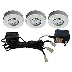 3 Enviro LED Metal Puck Kit, White