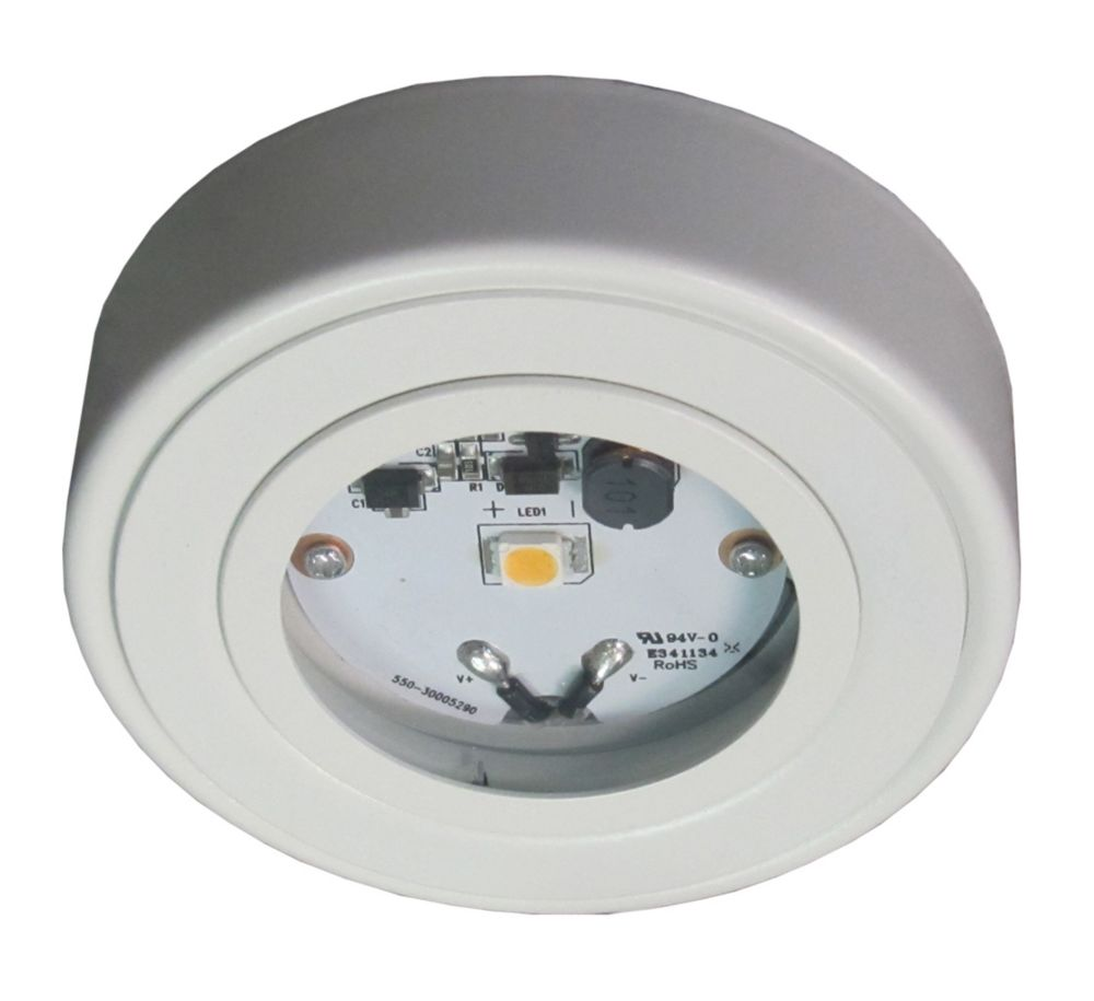 Enviro LED Metal Puck, White