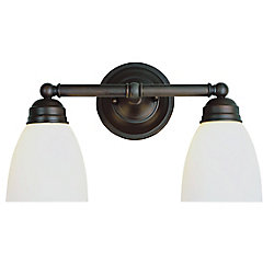 Bel Air Lighting Ardmore 2 lumières fini en bronze huilé poncé luminaire de vanité