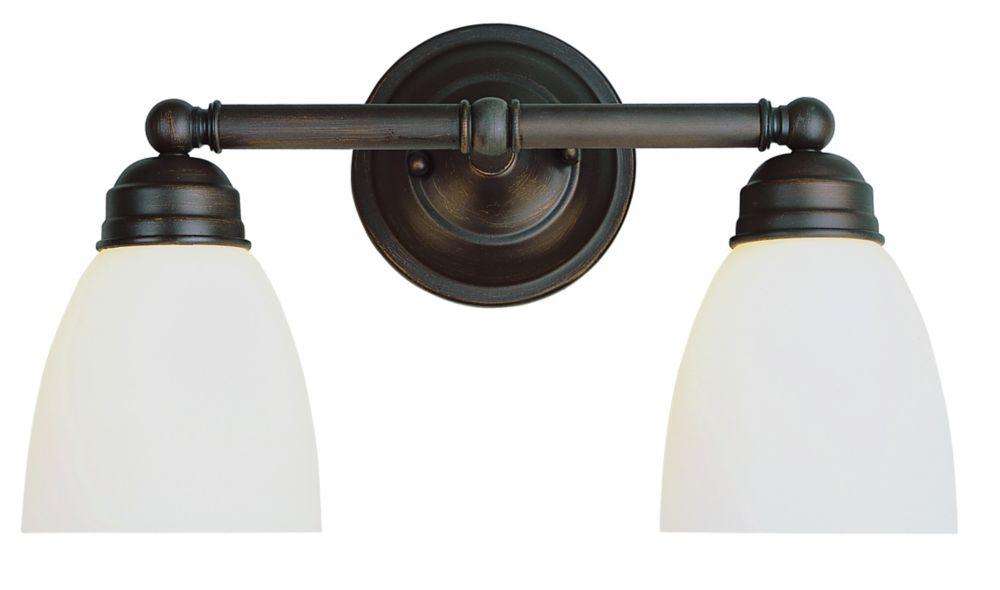 Bel Air Lighting Ardmore 2-Light Rubbed Oil Bronze Vanity Bar