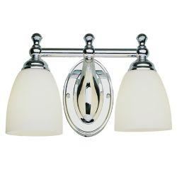 Bel Air Lighting Luminaire de meuble-lavabo à 2 ampoules