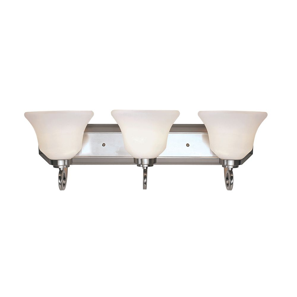 Frosted Bell Shade 3 Light Vanity