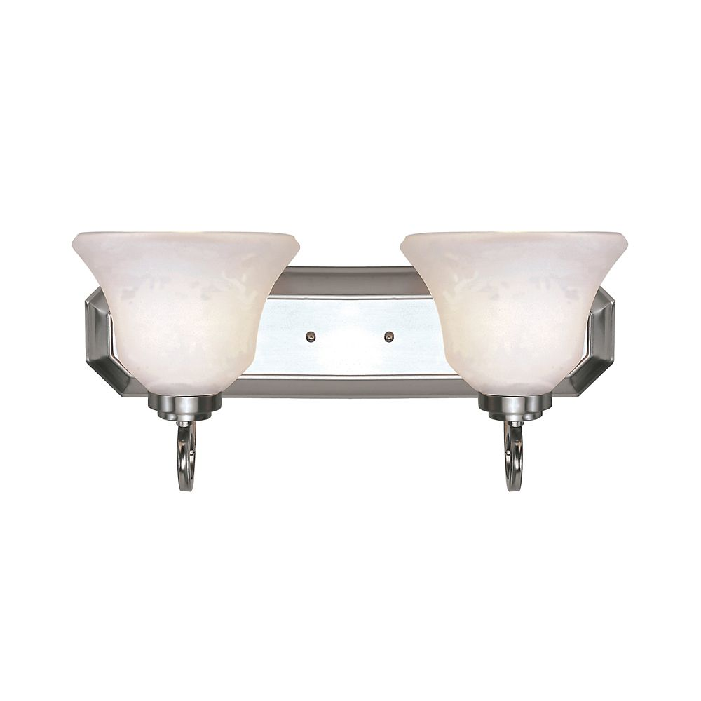 Frosted Bell Shade 2 Light Vanity