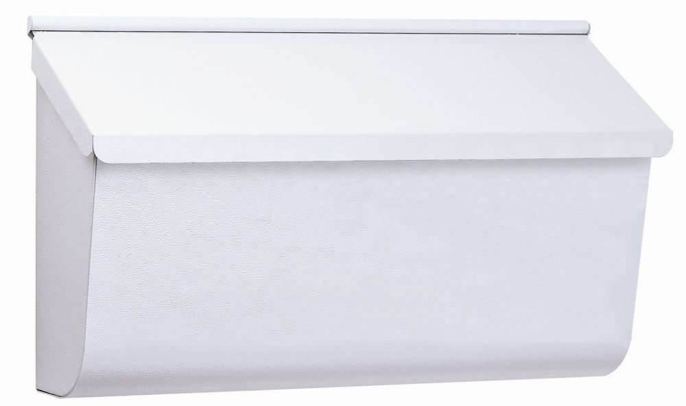 Gibraltar Industries White Woodlands Wall Mount Mailbox