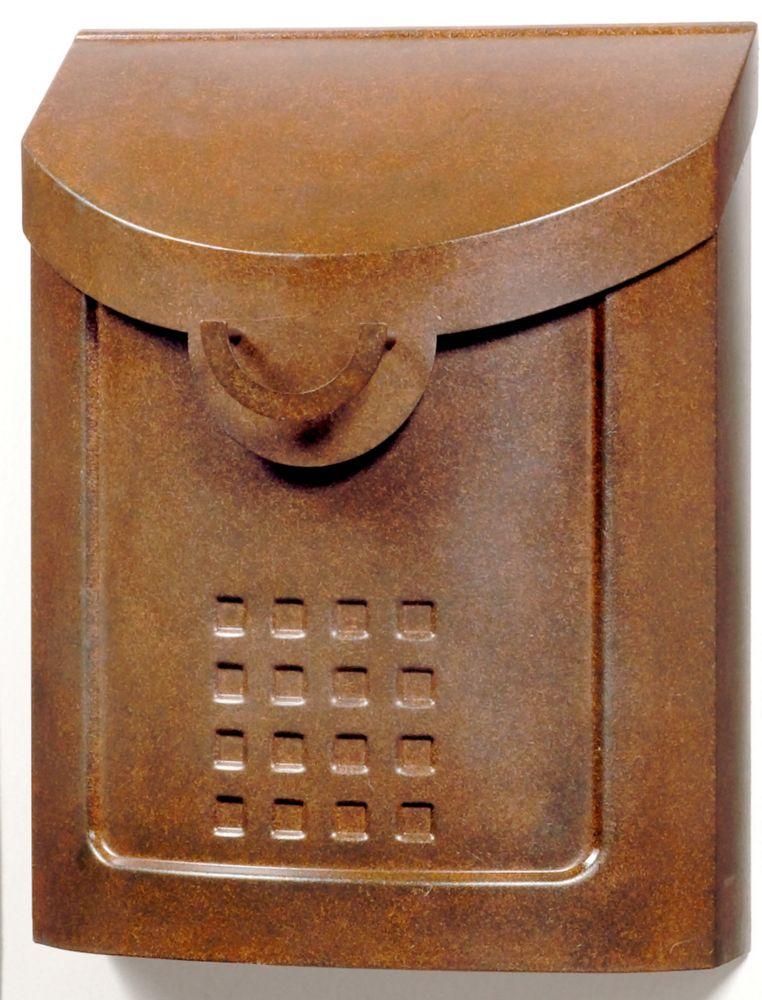 Boîte aux lettres murale Neo Classic de couleur cuivre vieilli