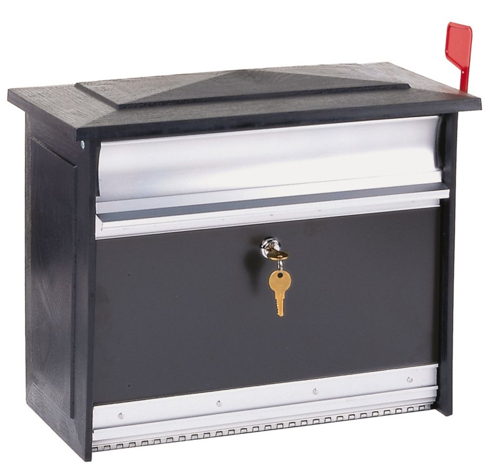 Black Mailsafe Wallmount Mailbox