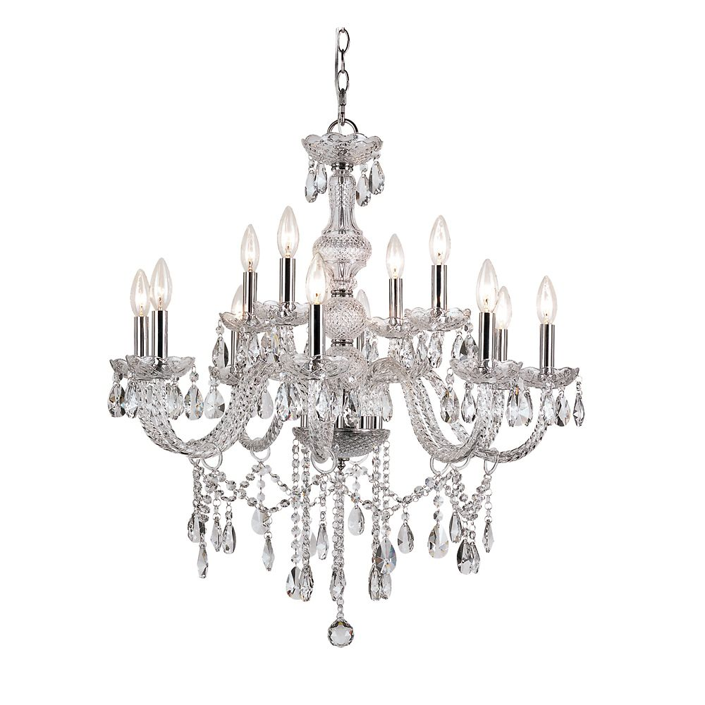 Braided Crystal 2 Tier Chandelier