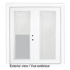 71 inch x 82.375 inch Clear LowE Prefinished White Left-Hand Steel Garden Door