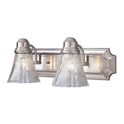 Bel Air Lighting 2- Light Brushed Nickel Vanity Light