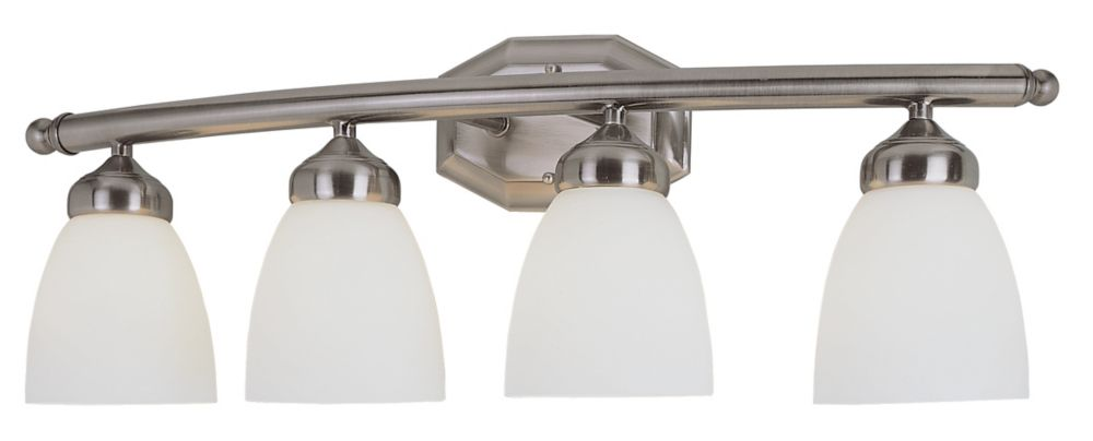 Bel Air Lighting 3-Light Chrome And Crystal Vanity Light