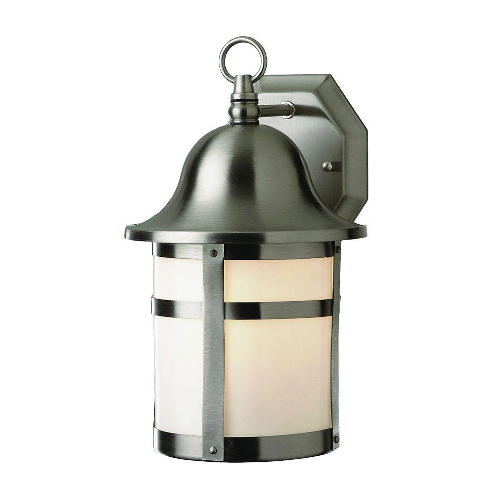 Bel Air Lighting Luminaire de terrasse, bande et capuchon nickel, 40,64 cm (16 po)