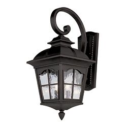 Bel Air Lighting Black Scalloped Window Wall Light - Small