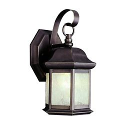 Bel Air Lighting Bronzed Black Seeded Glass Lantern