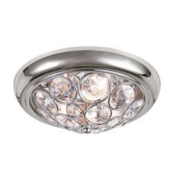 Bel Air Lighting Plafonnier chrome et cristal, 27,94 cm (11 po)