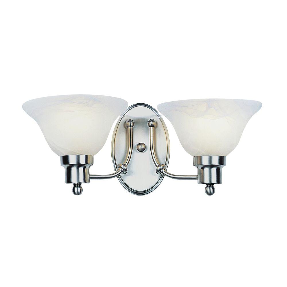Bel Air Lighting Nickel Contemporary 2 Light Sconce