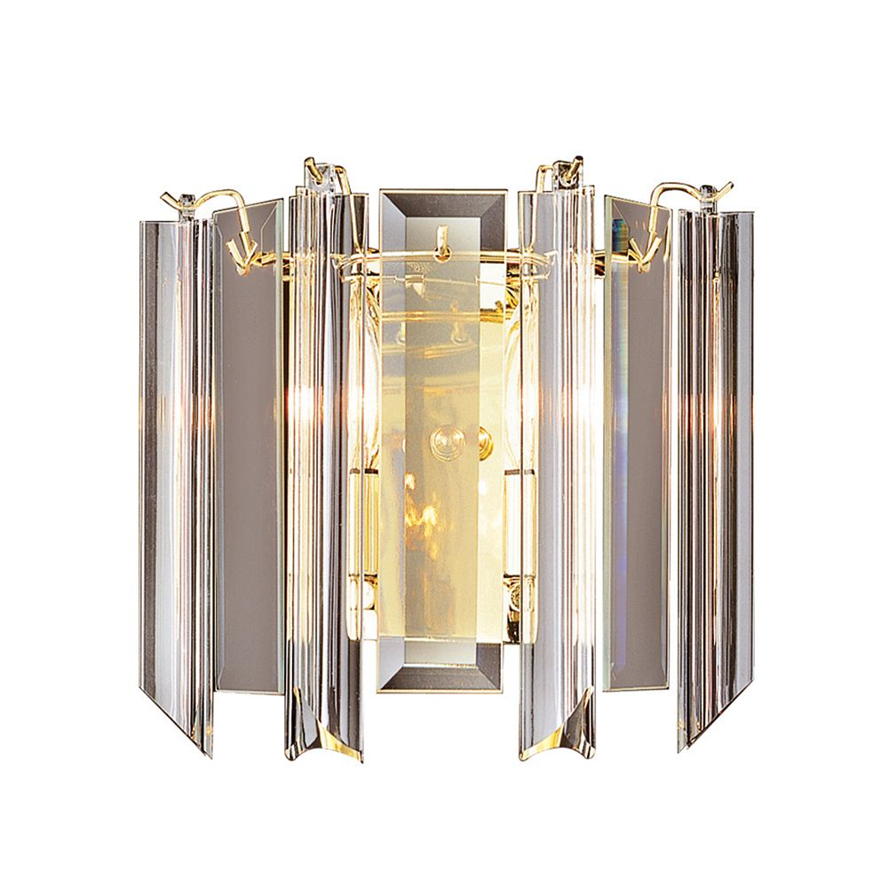 Polished Brass with Clear Acrylic Sconce