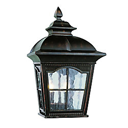 Bel Air Lighting Rust Scalloped Window Porch Light