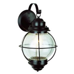 Bel Air Lighting Catalina 1-Light Black Wall Lantern